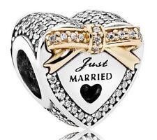 Genuine PANDORA Wedding Day Just Married Charm S925 Ale 792083CZ