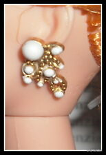 Jewelry Barbie Doll Legendary Lady Of Comedy Faux Pearl Gold Earrings Diorama