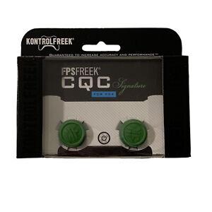 KontrolFreek CQC Signature Thumbsticks PS4 PS5 New Green PlayStation FPS Freek