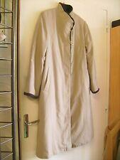 Beau manteau imperméable Claude Havrey beige fourré marron taille 42