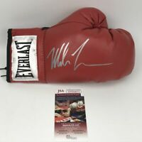 Autographed/Signed MIKE TYSON Everlast Red Boxing Glove JSA Spence COA Auto