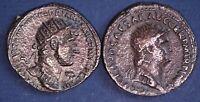 2 REPRODUCTION Roman coins, Dupondius - Nero & Hadrian [2MRC]