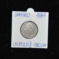 1887 Leopold II Koning One Franc - Silver - Very Good Condition
