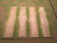 """28mm, 3"""" Straight road sections,  4pc,  PAINTED"""
