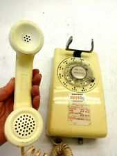 WESTERN ELECTRIC, BELL SYSTEM PHONE, 500DM, ROTARY DIAL, YELLOW WALL PHONE