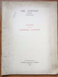 1951  Catalogue of the furnishings of The Cottage, Wilford, Nottinghamshire