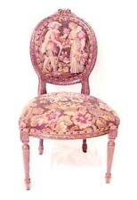 LOUIS XVI FRENCH LOVERS Allegorical Balloon Back NEEDLEPOINT PARLOR CHAIR