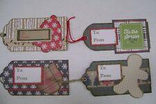 Handmade Christmas Gift Tags Lot 4  New
