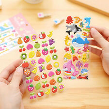 2Pcs 3D Cartoon PVC Stickers Kids Home Wall Decor Kindergarten Reward Stickers