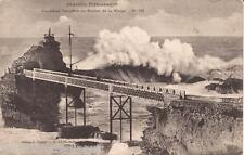 Postcard: Biarritz, France - Stormy Weather At Rocher De La Verge (c1915)