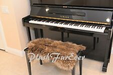 """20"""" x 30"""" A20 PIANO PADDING Luxury Brown Coyote Soft Faux Fur Chair Pad"""