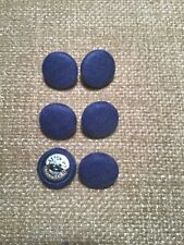 Denim Blue 24L/15mm Fabric Covered Buttons Craft Sewing Upholstery