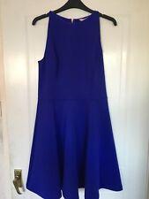 Brand New Ted Baker Womens Designer Blue Sleeveless Dress Size UK 12 - RRP £129
