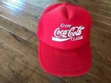 418ba628aab81 VINTAGE RED ENJOY COCA-COLA CLASSIC MESH BACK CAP HAT SNAPBACK NISSUN TAIWAN