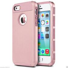 Rose Gold Apple iPhone SE / 5 / 5S Case [Tough Armor] Shockproof Slim TPU Cover