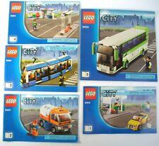 2010 Lego City Transport Station Set # 8404 Full Set Of 5 Instruction Manuals