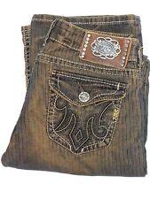 Women's MEK DENIM Montreal Sz. W 29 L 34 Black & Copper Bootcut Jeans / Corduroy