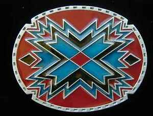 CLASSIC SOUTHWEST GEOMETRIC DESIGN BELT BUCKLE BUCKLES