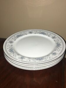 American Limoges Fine Porcelain Bridal Bouquet dinner plates - set of 4