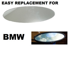NEW BMW M3 M5 330 320 318 E46 oval rear view mirror inside replacement glass