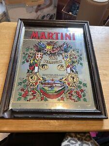 VINTAGE MARTINI ADVERTISING MIRROR Brewery Pub Bar Man Cave 33 x 23cm