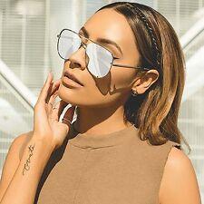 "NEW QUAY AUSTRALIA X DESI PERKINS Silver Mirror ""HIGH KEY"" Sunglasses -SALE"