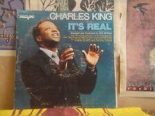 CHARLES KING, IT'S REAL - GOSPEL TEMPO LP TL 7007 OTIS SKILLINGS