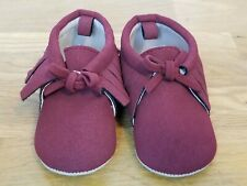 Old Navy Maroon Toddler Moccasins Size 6-12 Months Brand New