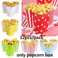 12pcs Candy Case Paper Bag Popcorn Box Theme Party DIY Birthday Decoration New