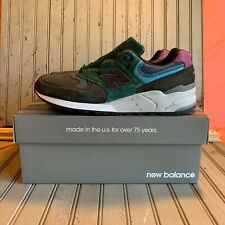 New Balance M999JTB Made In USA Lifestyle Shoes Charcoal Black/Green/Pink Sz 10