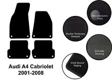 Audi A4 Cabriolet (2001 to 2008) New Fully Tailored Black Carpet Car Floor Mats