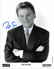 PAT SAJAK HAND SIGNED 10 X 8 BLACK & WHITE WHEEL OF FORTUNE PROMO PHOTOGRAPH