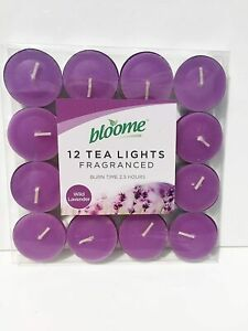 Pack of 12 Bloome Scented Tealights- Wild Lavender