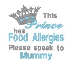 This Prince has Food Allergies Please Speak to Mummy Embroidered Baby Bib