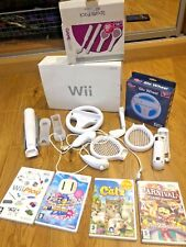 NINTENDO Wii Console  with 4 x Games + all  Accessories
