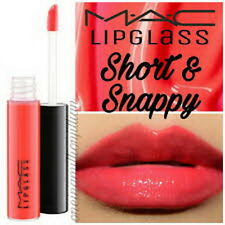 Mac Cosmetics Little MAC Lipglass Lipgloss in Short & Snappy (red) NEW SEALED