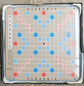 Vintage Scrabble Game Rotating Board