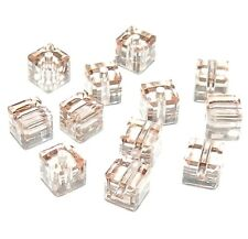 SCC120F CANTALOUPE Genuine Swarovski Faceted 4mm Square (5601) Cube Beads 12/pkg