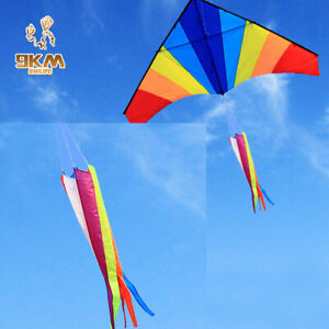 1.2m Kite Tail Windsock Rainbow Outdoor Yard Decor Delta/Stunt /Software Kites