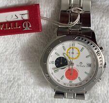 TITAN 50meters chronograph mens sport watch brand new