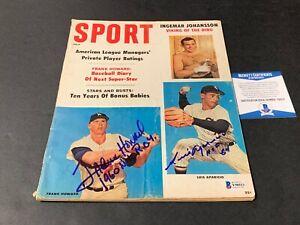 Luis Aparicio Frank Howard Dodgers Signed Sport Magazine July 1960 BECKETT COA