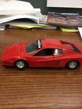 Vintage 1984 Polnstil Diecast Model Ferrari Testarossa by Tonka -Red 1:25 Scale