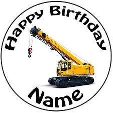 "Personalised Birthday Crane Round 8"" Easy Precut Icing Cake Topper"