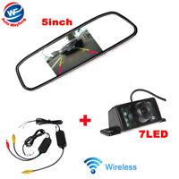 Rétroviseur avec Ecran TFT LCD 5 pouces + sans fil Caméra de recul pour Voiture