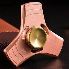 Hand Spinner Tri Fidget EDC Killing Time Brass Copper Focus Steel Ball Bearing