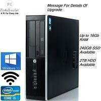 Fast Hp 8300 Elite SFF Quad Core i5-3rd 3.2Ghz 16GB 256GB SSD Windows 10 Pro PC