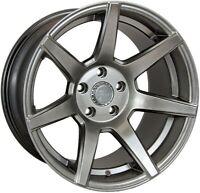 7 Twenty Style 55 Alloy Wheel 5X114.3 17X 8.5J ET7 Hyper Black Nissan