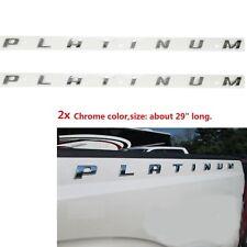 2x OEM Chrome PLATINUM Emblem Side Badge Nameplate 3D for Ford Platinum Glossy F