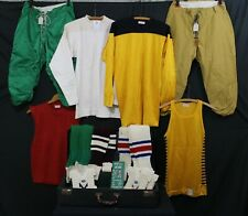 Vtg 40s Athletic Football Basketball Uniforms Jerseys Pants Salesman Sample Nos