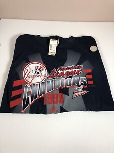Vintage Adidas 1999 New York Yankees American league Mens T-Shirt XL
